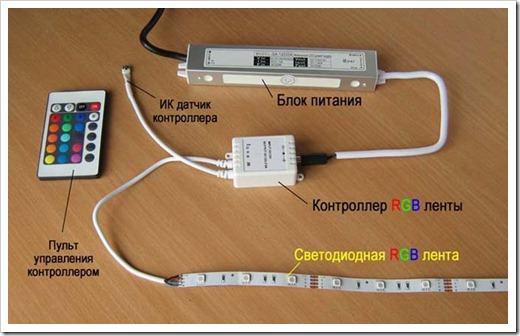 Как подключить светодиодную ленту к блоку питания?