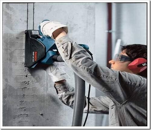 Штробление проема под электропроводку