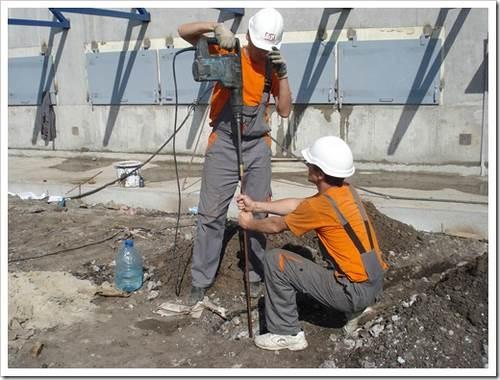 Использование арматуры для монтажа контура заземления